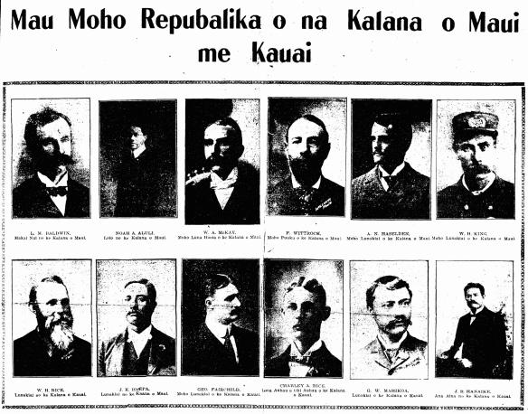He Mau Moho Repubalika o na Kalana o Maui me Kauai