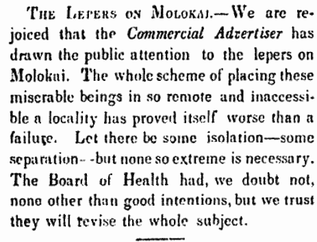 The Lepers on Molokai...