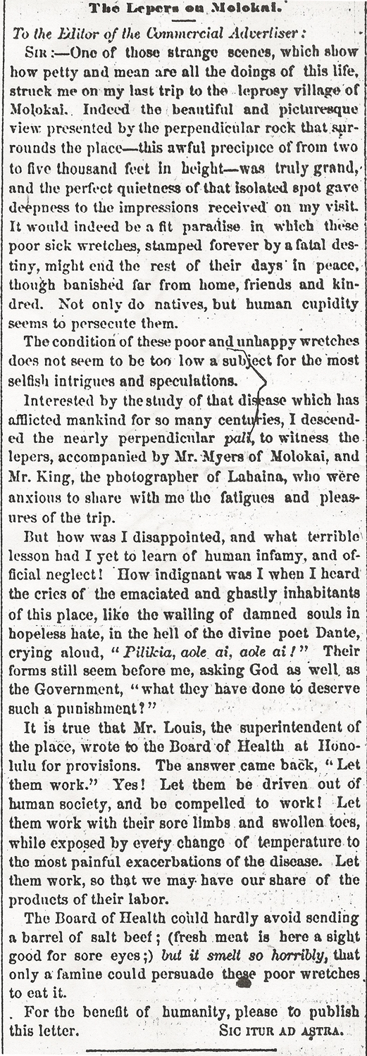 The Lepers on Molokai.