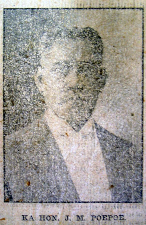 KA HON. J. M. POEPOE