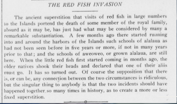 THE RED FISH INVASION