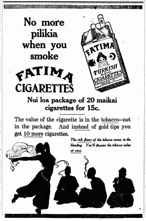 FATIMA CIGARETTES