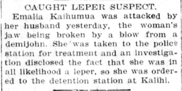 CAUGHT LEPER SUSPECT.