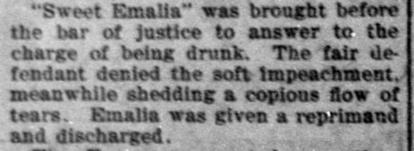 """""""Sweet Emalia"""" was brought..."""