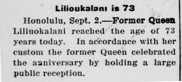 Lilioukalani is 73