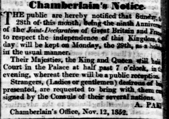 Chamberlain's Notice.