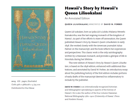 """Hawaii's Story by Hawaii's Queen."""