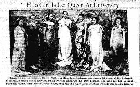 Hilo Girl Is Lei Queen At University