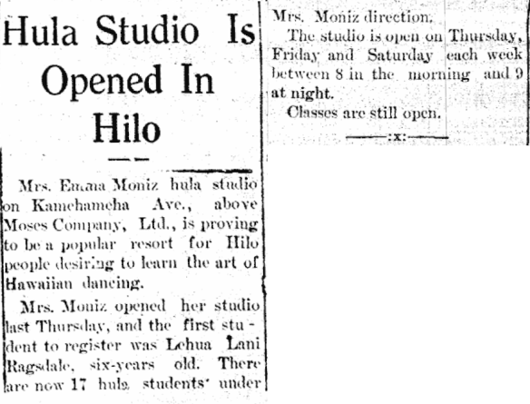 Hula Studio Is Opened In Hilo