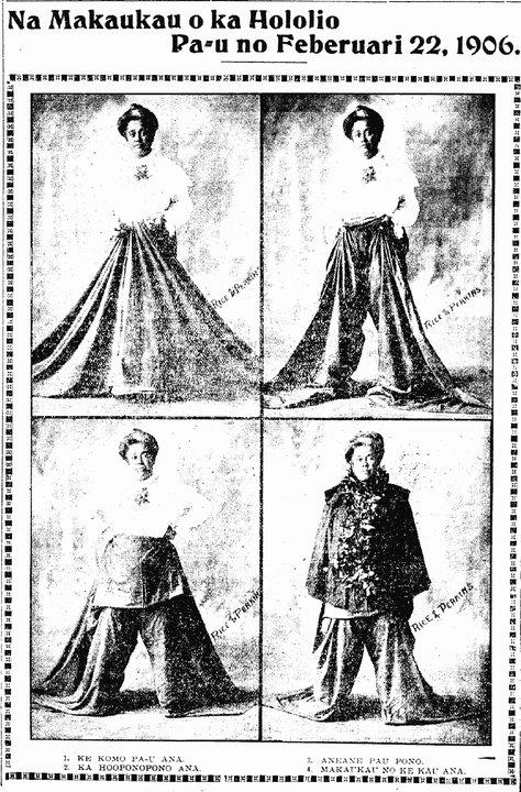 Na Makaukau o ka Hololio Pa-u no Feberuari 22, 1906.