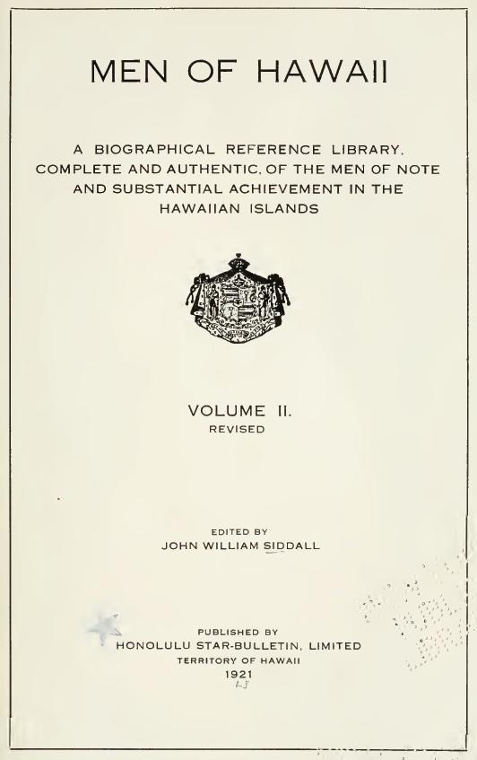Men of Hawaii, Volume II