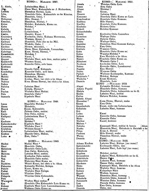 KOMO--. Makahiki 1847.