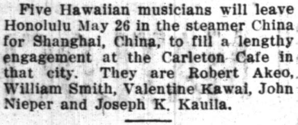 Five Hawaiian musicians...