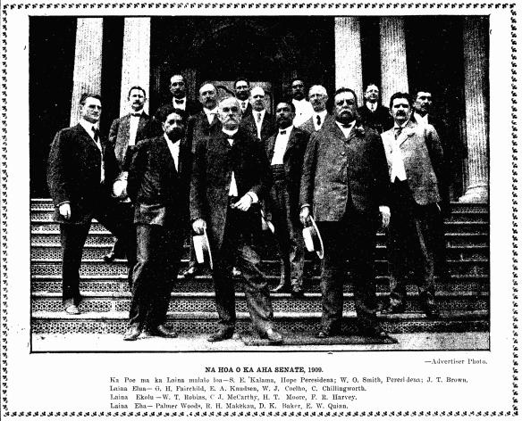 NA HOA O KA AHA SENATE, 1909.
