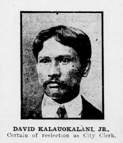 DAVID KALAUOKALANI, JR.,