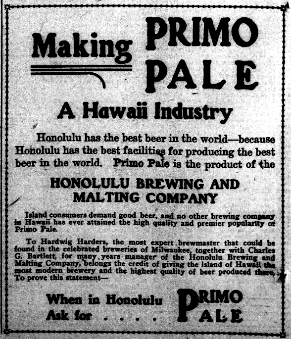 Making PRIMO PALE