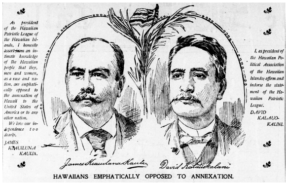HAWAIIANS EMPHATICALLY OPPOSED TO ANNEXATION.