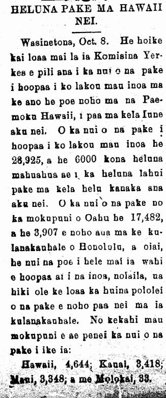 HELUNA PAKE MA HAWAII NEI.