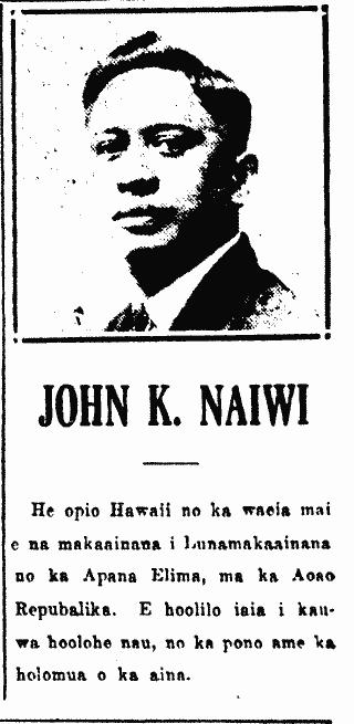 JOHN K. NAIWI