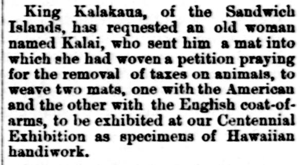 King Kalakaua...