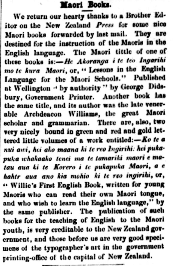Maori Books.