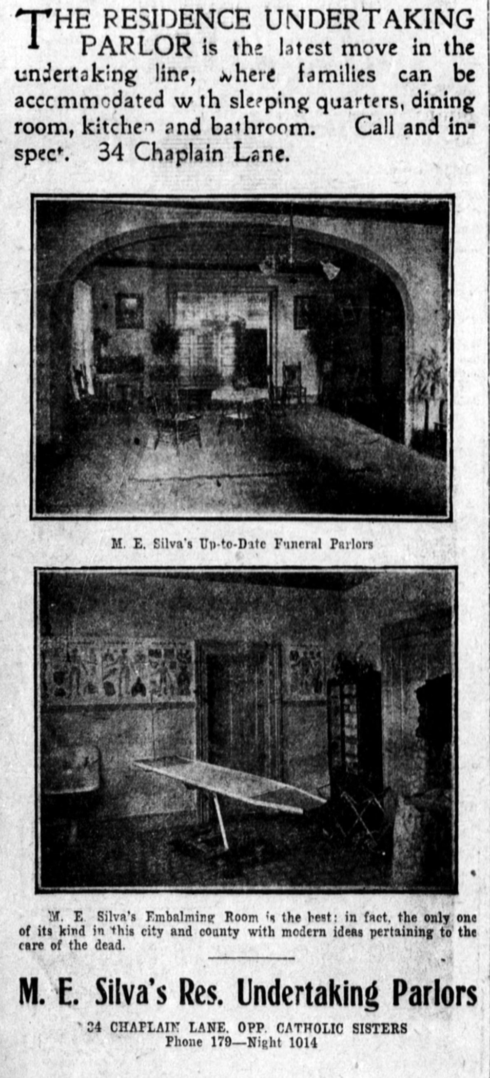 THE RESIDENCE UNDERTAKING PARLOR...